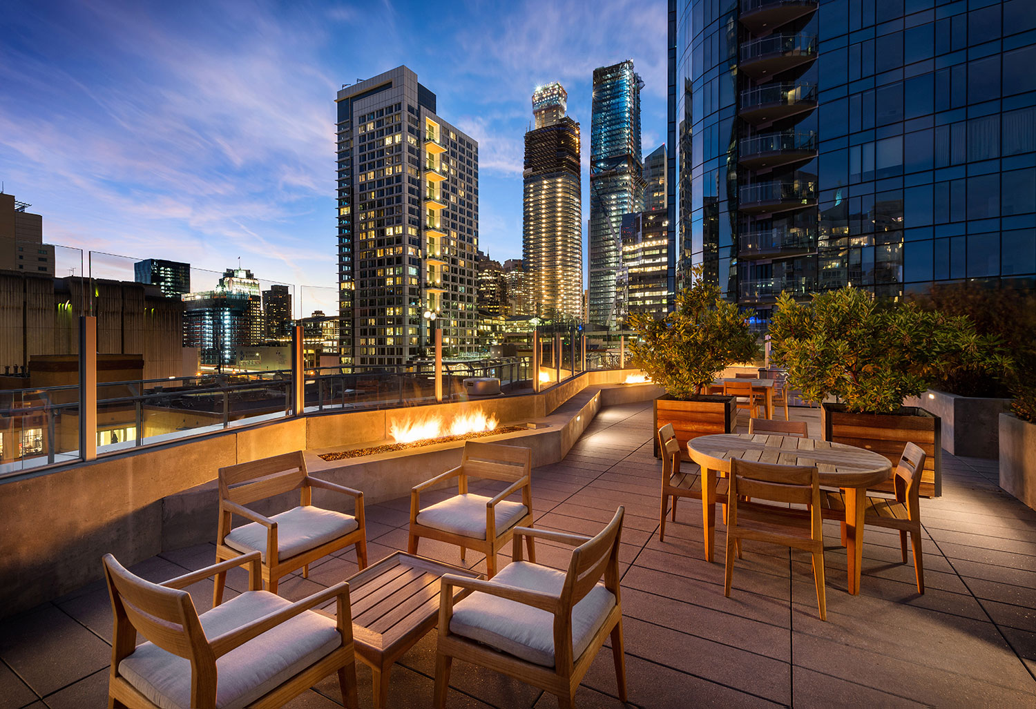Luxury condominium towers in San Francisco CA